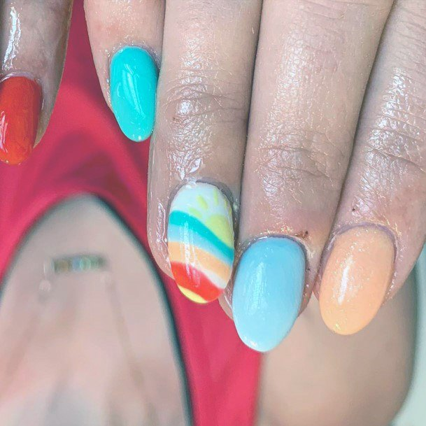 Light Colorful Nail Ideas For Women