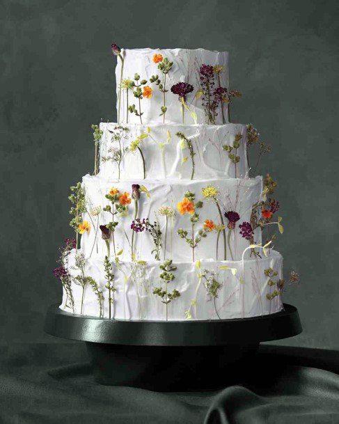 Light May Wedding Flowers On Cake