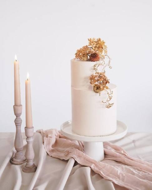 Light Pink 2 Tier Wedding Cake