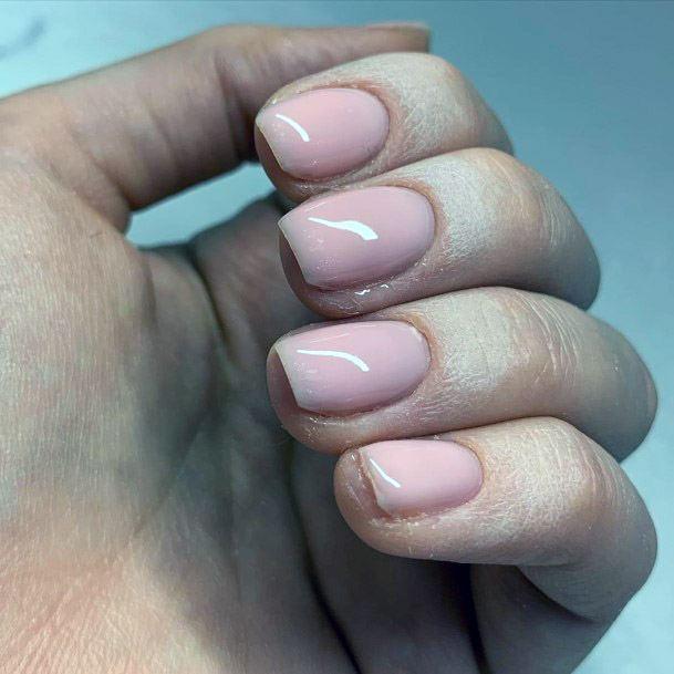 Light Pink Short Nails For Women