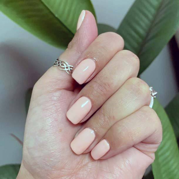 Light Pink Simple Polished Nails For Women