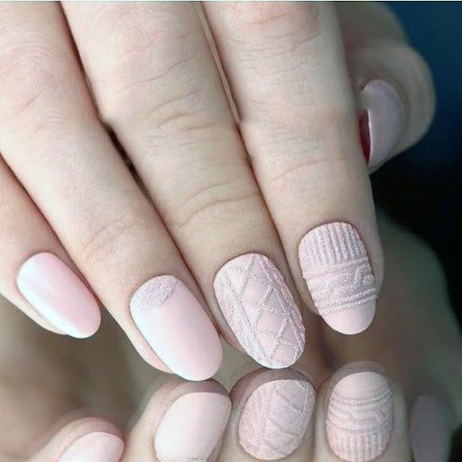 Light Pink Sugar Nails For Women
