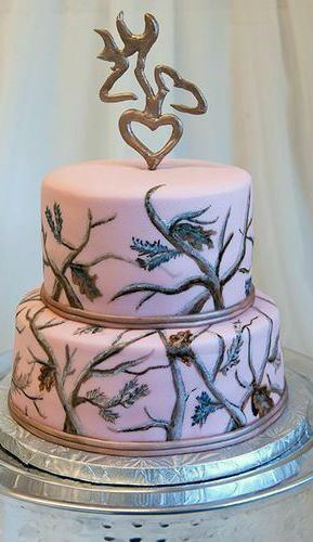 Light Purple Camo Wedding Cake