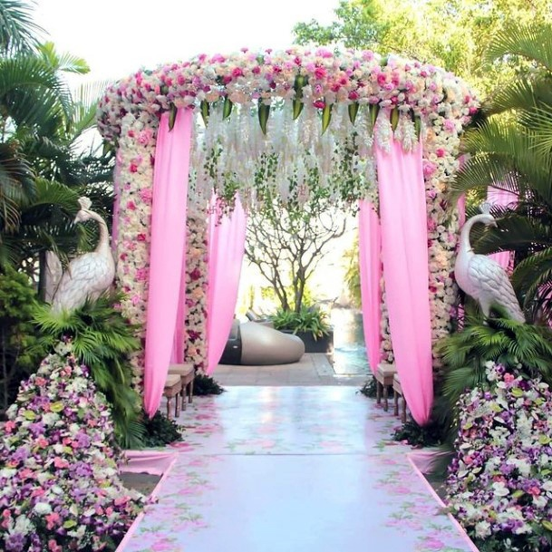 Light Purple Indian Wedding Flowers