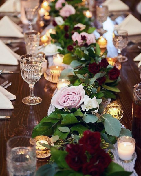 Light Purple Rose Christmas Wedding Flowers