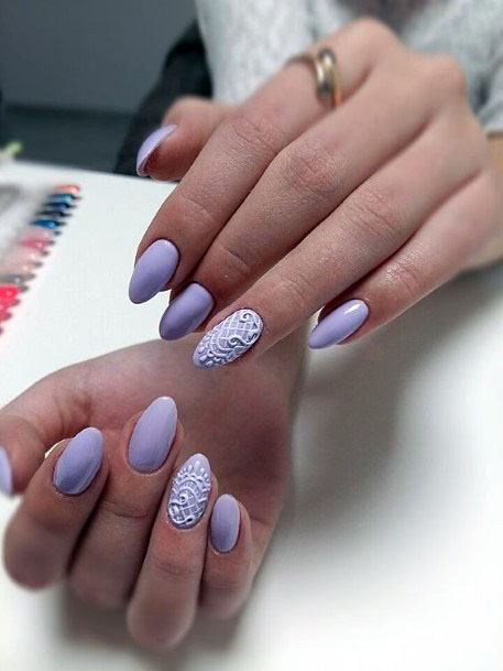 Light Purple Sugared Nails For Women