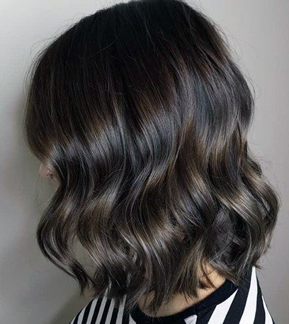 Light Wavy Beautiful Glossy Mid Brunette Style For Womens Hair