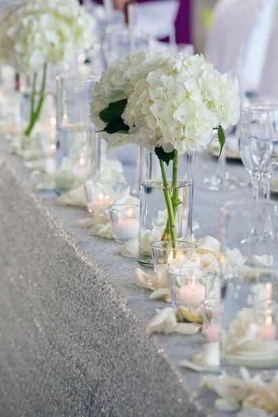 Light White Hydrangea Wedding Flowers