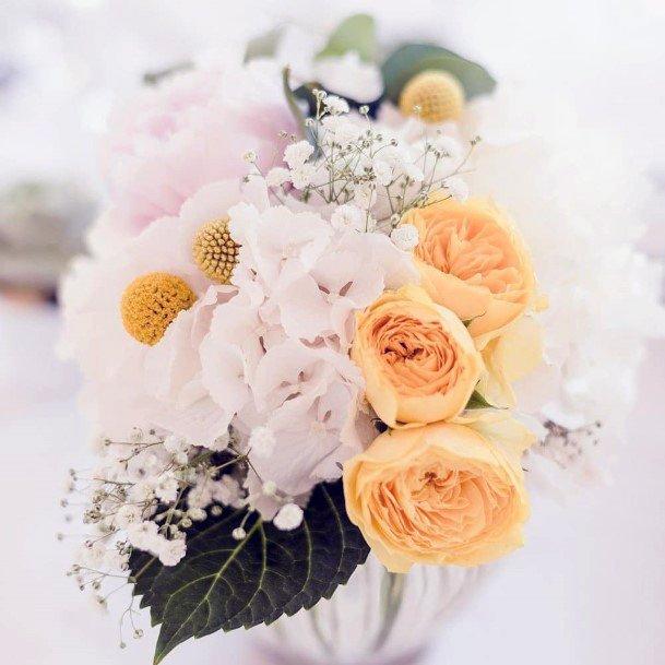 Light Yellow White Roses Flowers Wedding