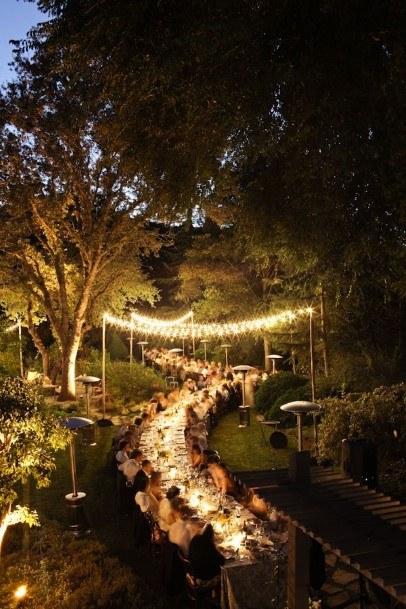 Lighting Overhead Backyard Wedding Ideas