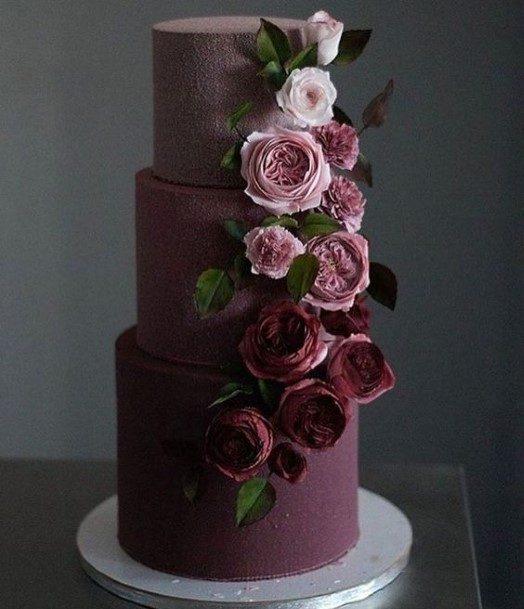 Lilac Shaded Chocolate Wedding Cake