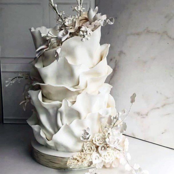 Liquid White Blast Unique Wedding Cake