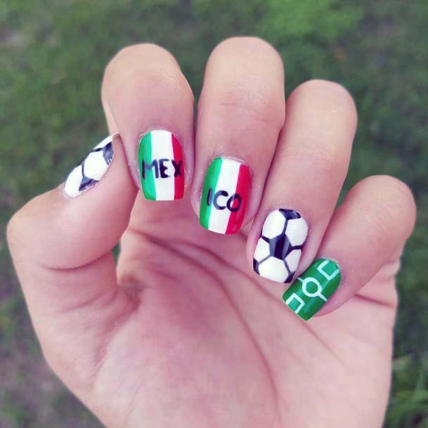 Lively Green Toned Sport Nails For Women