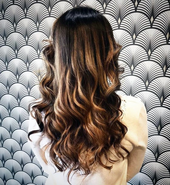 Long Glossy Curls For Dark Brunettes Beautiful Hairstyle For Women