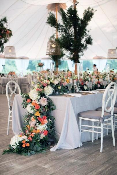 Long Leaved Hydrangea Wedding Flowers Table Art