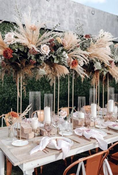 Long Stemmed Boho Flowers Decor Wedding