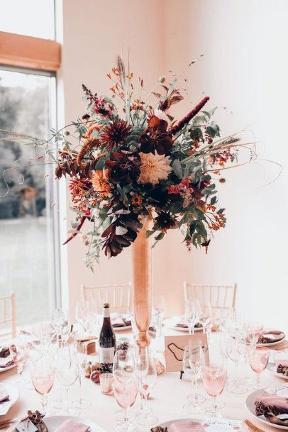 Long Stemmed November Wedding Flowers