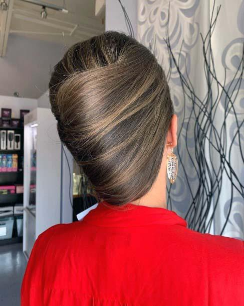 Loose And Artsy French Twist For Women