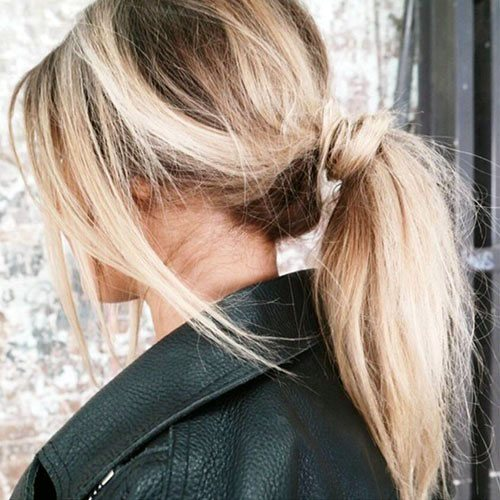 Loose Retro Pony Hairstyle For Women
