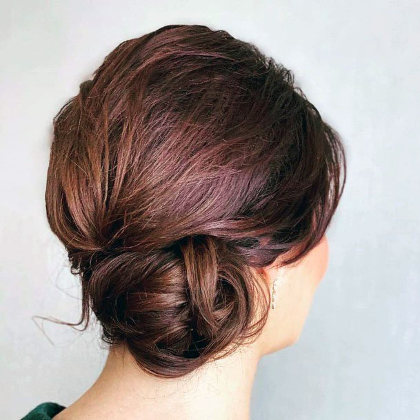 Loose Sided Chignon Hairstyle For Women