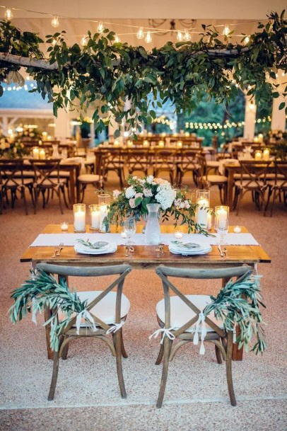 Lots Of Greenery Sweetheart Table Decorations Rustic Wedding Ideas