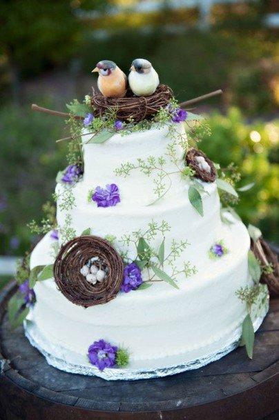 Lovebird Nest Rustic Wedding Cake Toppers
