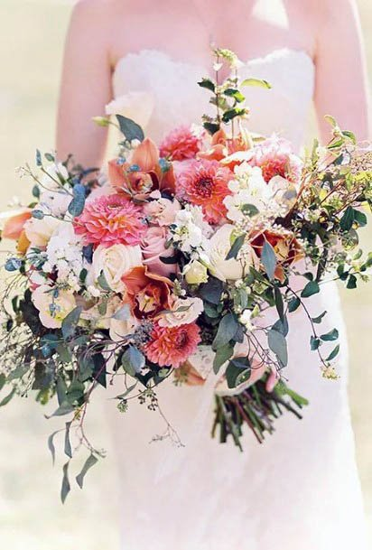 Lovely August Wedding Flowers
