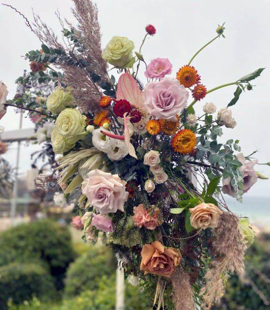Lovely Beach Flowers Wedding