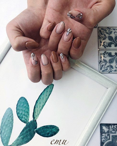 Lovely Brown Nails For Women