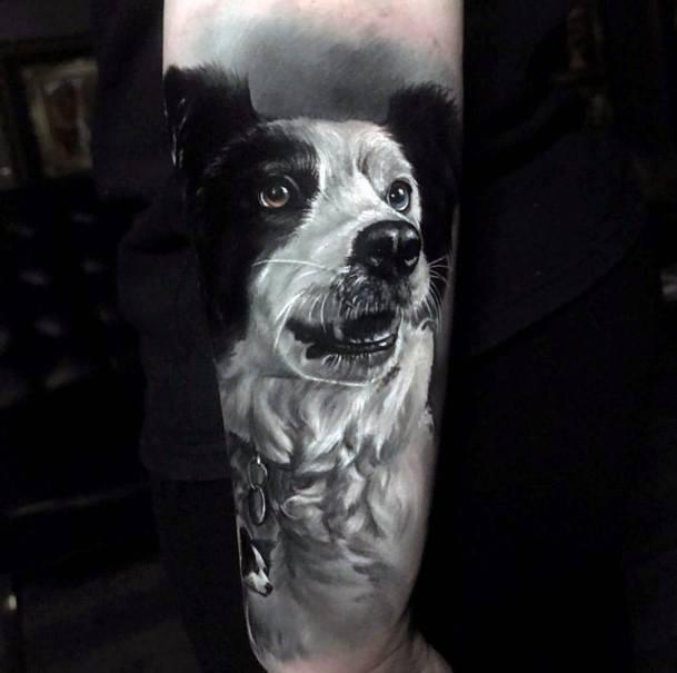 Lovely Dog Tattoo For Women