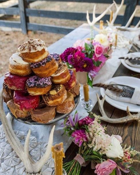 Lovely Donut Wedding Cake