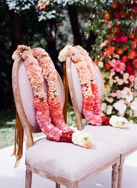 Lovely Flower Garland Indian Wedding Chair