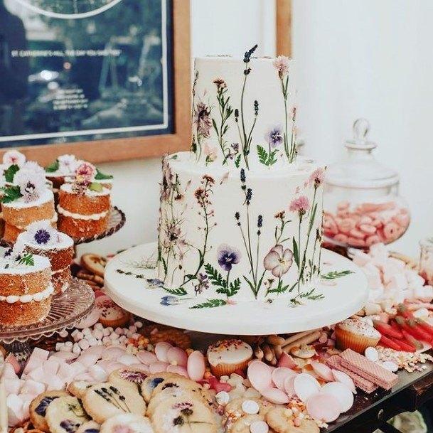 Lovely Flowered Beautiful Wedding Cakes