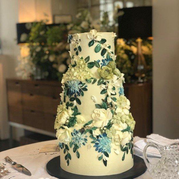 Lovely Flowers Buttercream Wedding Cake