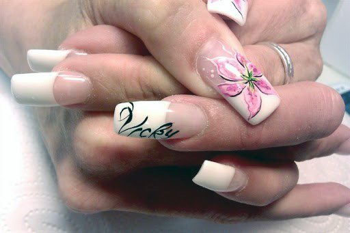 Lovely French Orchid Nails