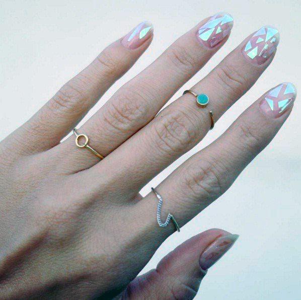 Lovely Glass Nails Women