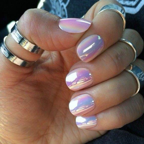Lovely Iridescent Nails Women