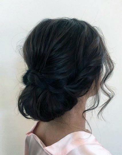 Lovely Messy Bun Hairstyle For Women