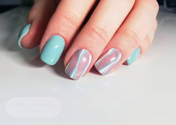 Lovely Mint Nails For Women