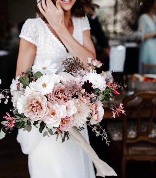 Lovely Pink August Wedding Flowers