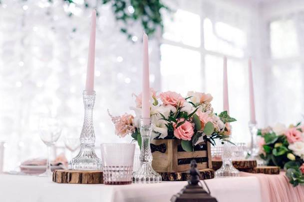 Lovely Pink Rose Flowers Wedding