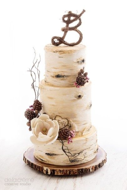 Lovely Rustic Wedding Cake Toppers