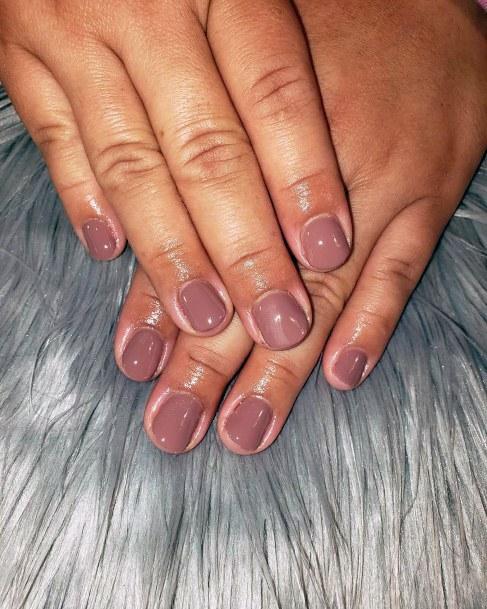 Lovely Short Nails Women