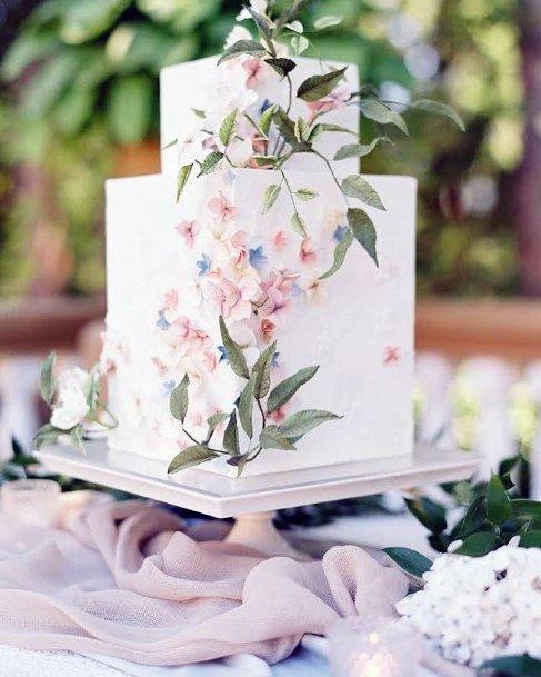 Lovely Square Wedding Cake Art