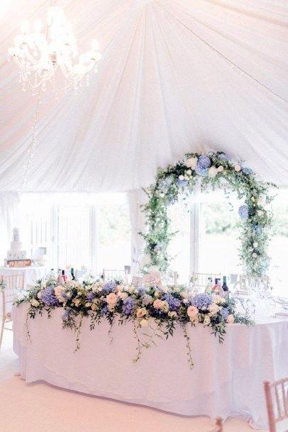 Lovely Table Decor Hydrangea Wedding Flowers