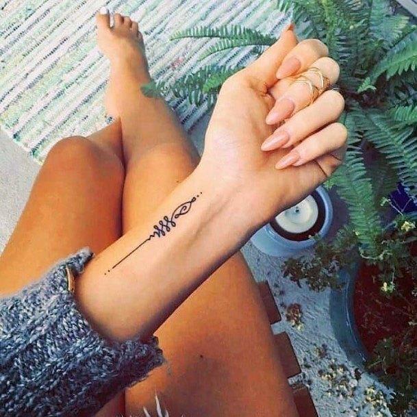 Lovely Tattoo Womens Wrist