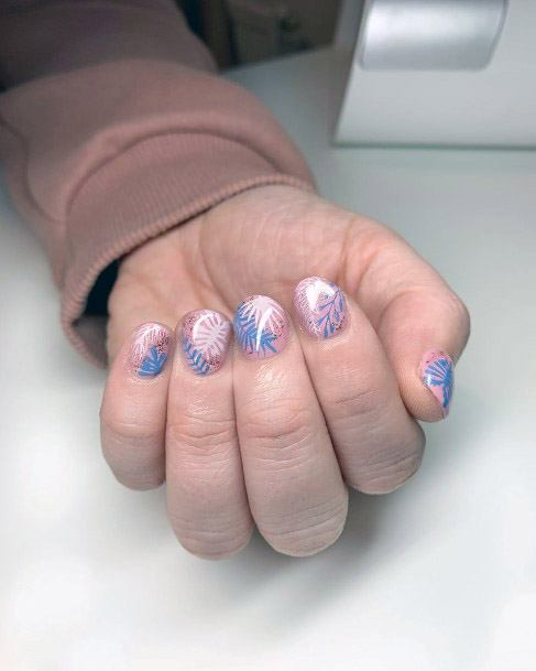 Lovely Tropical Nails Women