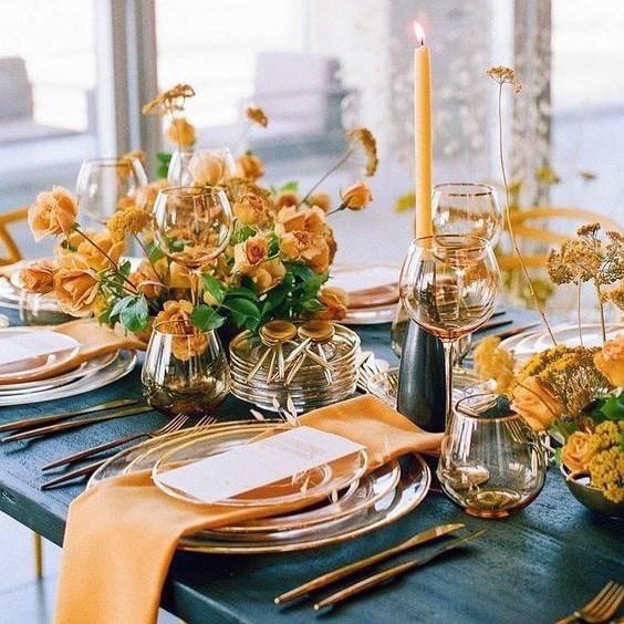 Luminous Yellow Flowers Wedding
