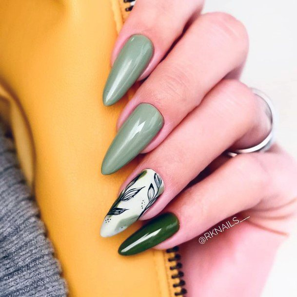 Lush Green April Nails Forest Women