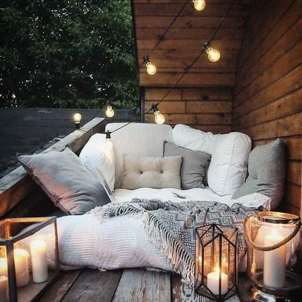 Lush Porch Lounge Area Backyard Wedding Ideas